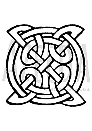 Azeeda A7 Keltisches Symbol Stempel Unmontiert Sp00007746