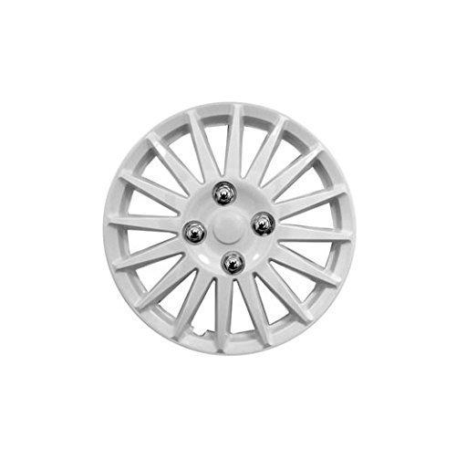Hyundai i10 14' Stylish Gloss White Wheel Cover Hub Caps x4 Streetwize