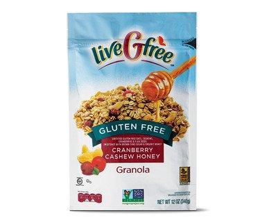 livegfree sin gluten Cranberry anacardo Granola Miel 12oz ...