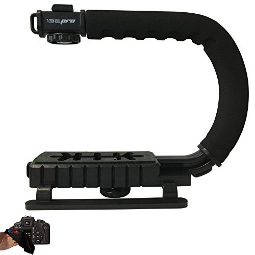 I3ePro SuperGrip Professional Camera / Camcorder Action Stabilizing Handle For Canon, Nikon, Sony, Samsung, Fujifilm, Fuji, Olympus, Panasonic, Pentax DSLR Digital SLR Camera Video Camcorders by PIXI-GEAR
