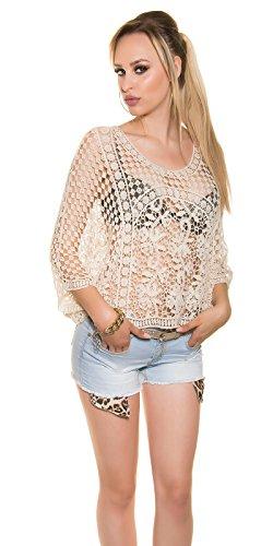 KouCla - Camiseta sin mangas - para mujer Beige
