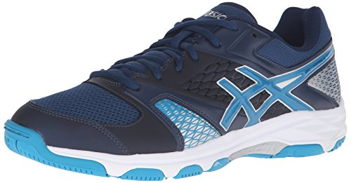 Asics Heren Gel-domein 4 Volleybal Schoen Poseidon / Blue Jewel / White