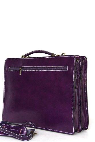 sac mod Violet Fichier UNISEX avec portable cuir bandoulière p 2027 ordinateur business Italie de xqCXZ