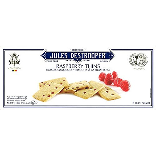Jules Destrooper, Biscuit, Raspberry Thins, net weight 100 g (Pack of 1 piece)