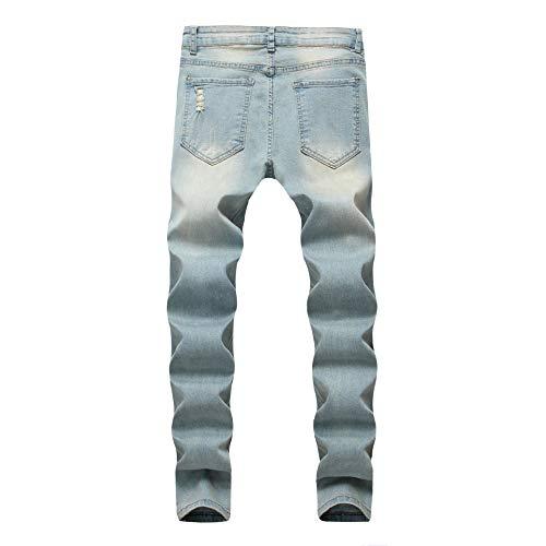 OBT Big Boy's Vintage Ripped Skinny Destroyed Stretch Slim Distressed Jeans Pants 14 by OBT (Image #2)