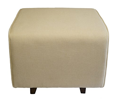 Nursery Rocking / Gliding Chair Ottoman (Cream) by Elisanliving