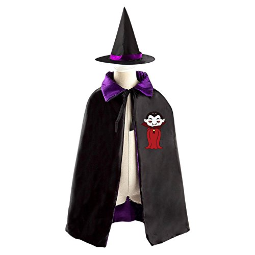 Vampire Comic Witch Cloak Reversible Cosplay Costume Satin Cape Boys Girls Red (Alvin Costumes)