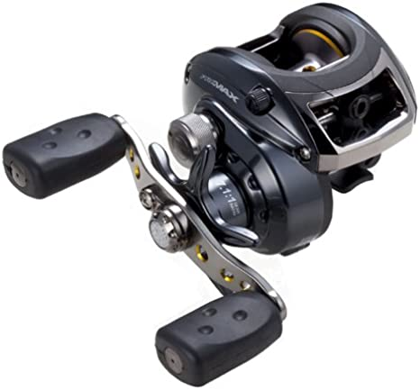 Amazon Com Abu Garcia Pro Max Low Profile Baitcast Reel 12 Pound 145 Yard Baitcasting Fishing Reels Sports Outdoors