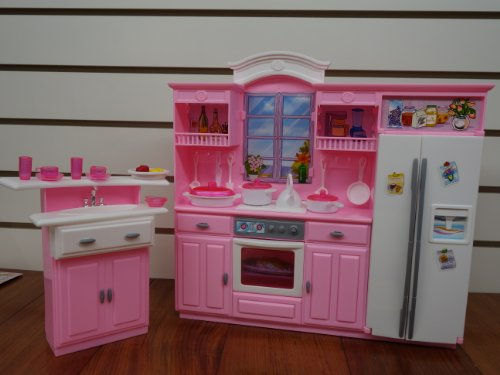 new my fancy life kitchen play set barbie doll house furniture chef cooking gift ebay. Black Bedroom Furniture Sets. Home Design Ideas