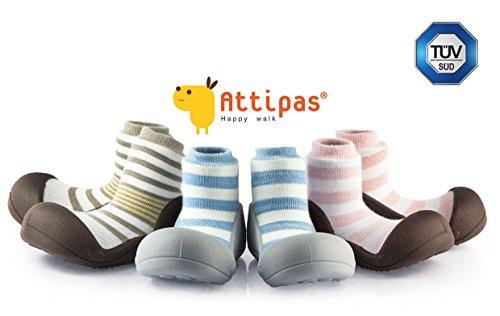 Attipas Bio Baumwolle Natural Herb (19, Rosa) - Kinder Barfußschuhe, ergonomische Baby Lauflernschuhe, atmungsaktive Kinder Hauschuhe ABS Socken Babyschuhe Antirutsch