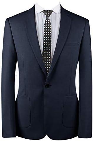 メンズスーツスリムフィットワンボタン2ピーススーツタキシードビジネスウェディングパーティーカジュアル