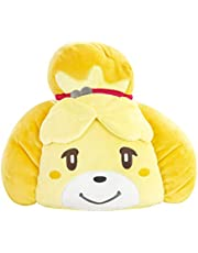 Club Mocchi Mocchi T12765 Mocchi Mega Isabelle Plush 40 cm, Nintendo Merchandise, Bedroom Accessories, Animal Crossing Soft Toy for Boys and Girls, Cuddly Cushion Suitable from 3 Years +