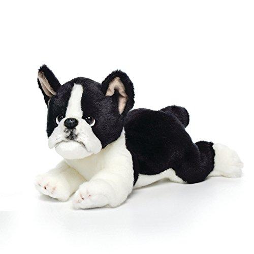 (Large Boston Terrier Dog Black and White Children's Plush Stuffed Animal Toy)