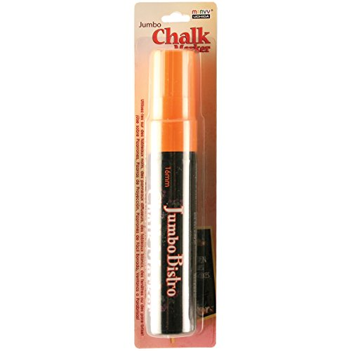 (Uchida Of America 481-C-F7 Jumbo Bistro Chalk Markers, Fluorescent Orange )