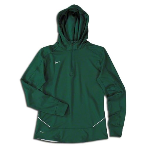 Nike Women's Long Sleeve Training Top, Dark Green, Large by Nike
