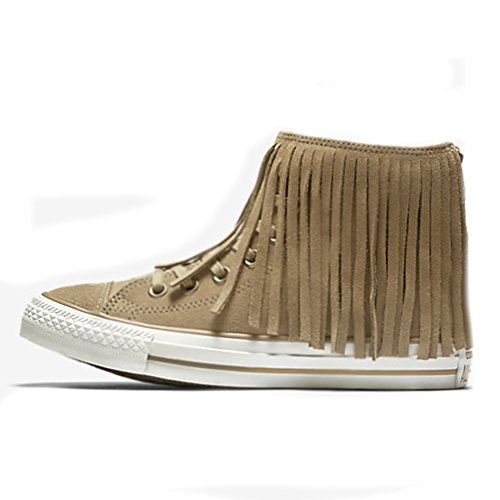 Egret Size Converse All Dune Sand Sneakers Fringe Chuck 5 Star Fashion Top Taylor Hi 6fw7x6Prq