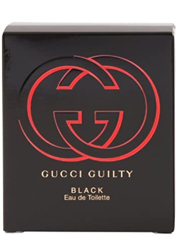 Gucci Eau de Toilette Spray for Women, Guilty Black, 1.6 Fl Oz