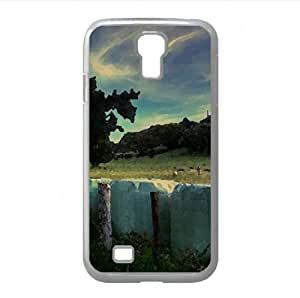 At The Park Watercolor style Cover Samsung Galaxy S4 I9500 Case (Landscape Watercolor style Cover Samsung Galaxy S4 I9500 Case)