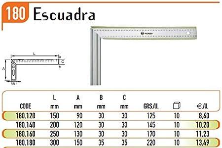 ECOSPAIN Escuadra 180.180. Marca Palmera