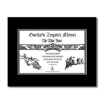 Music Ad World GORKYS ZYGOTIC MYNCI - The Blue Trees Mini Poster - 21x13.5cm