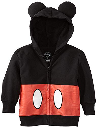 Disney Little Boys' Toddler Mickey Mouse Hoodie, Black, -