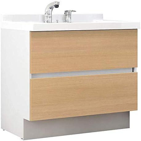 イナックス(INAX) 洗面化粧台 J1プラスシリーズ 幅90cm フルスライドタイプ シングルレバーシャワー水栓 J1FHT905SYNLP2H 寒冷地用 クリエペール(LP2H)