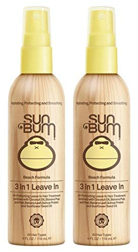 (Sun Bum 3 In 1 Leave In Hair Conditioning Treatment, 2 Pack (4 Oz))