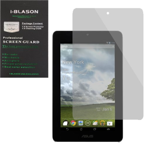 i-Blason 2 Pack for Asus Memo Pad ME172V 7 Inch Tablet Screen Protectors 1 Clear (invisible) + 1 Matte (Anti-glare)