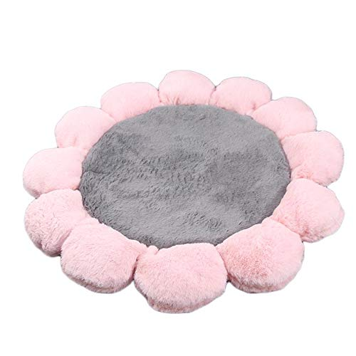 Dog Bed Flower - Fleece Soft Flower Pet Mat Cushion Round Dog Beds for Small Large Dogs Sofa Protector Four Seasons Kids Play Mat