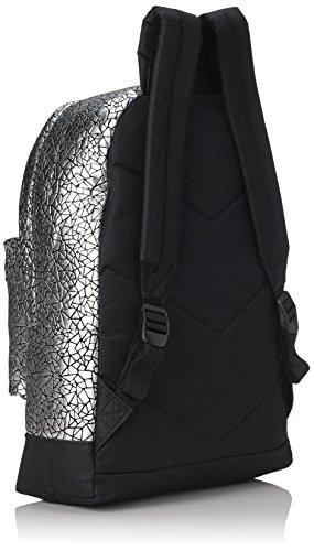 Gola Walker Metallic Geo - Bolso mochila Mujer Plateado - Silber (Silver/Black)