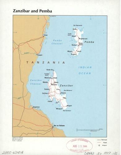 Amazon 1977 map zanzibar and pemba size 18x24 ready to 1977 map zanzibar and pemba size 18x24 ready to frame pemba gumiabroncs Choice Image
