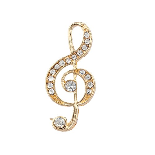 Lux Accessories Goldtone Treble Clef Musical Note Brooch