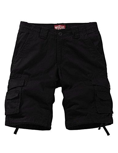 Match Men's Twill Comfort Cargo Short Without Belt #3087 (Label size S/29 (US 28), Black)