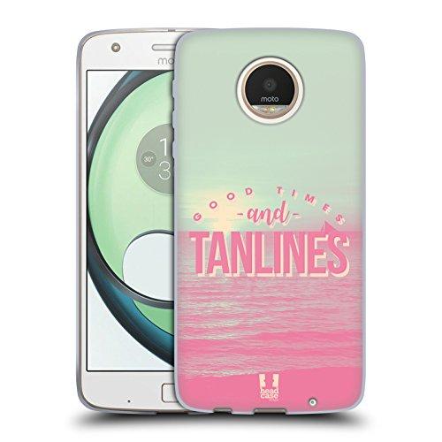 Head Case Designs Tanlines Dreamy Summertime Soft Gel Case for Motorola Moto Z Play / - Summer Tanlines