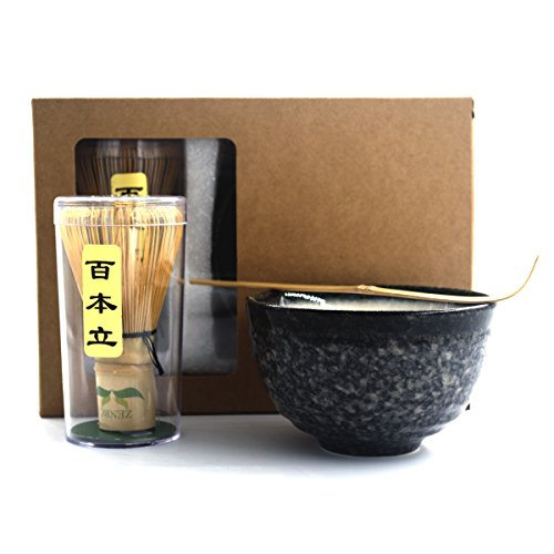 For Sale! Complete Start Up Matcha Tea Kit - Retro Japanese Natural Bamboo Matcha Whisk ( Chasen ) -...