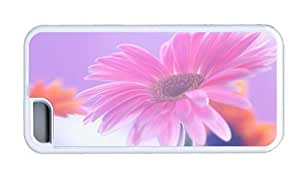Hipster carrying iPhone 5C case gerbera flower White for Apple iPhone 5C