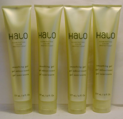 Halo Illuminating Color Protection Smoothing Gel 6oz By Graham Webb (4 Pack) (Halo Smoothing Gel)