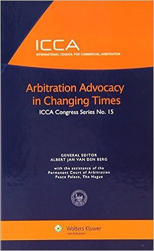 Last ned hele bøker online gratisArbitration Advocacy in Changing Times (International Council for Commercial Arbitration Congress Series) by van den Berg PDF DJVU FB2