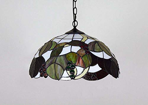 Creative Tiffany Style Chandelier, Stained Glass Art Brown Ceiling Light, Living Room Dining Bar Pendant Light, ()