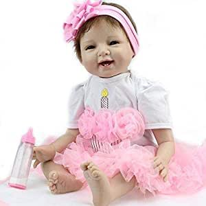 Reborn baby dolls soft real gentle touch lovely premie baby doll realistic pupular Christmas Gift