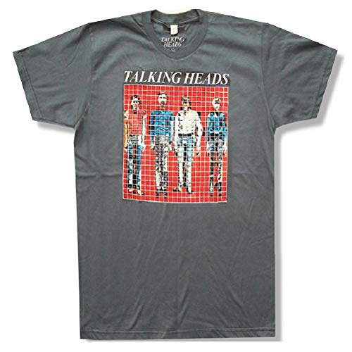Talking Heads 'More Songs About Buildings And Food' Premium Silver Grey T-Shirt (X-Large) ()