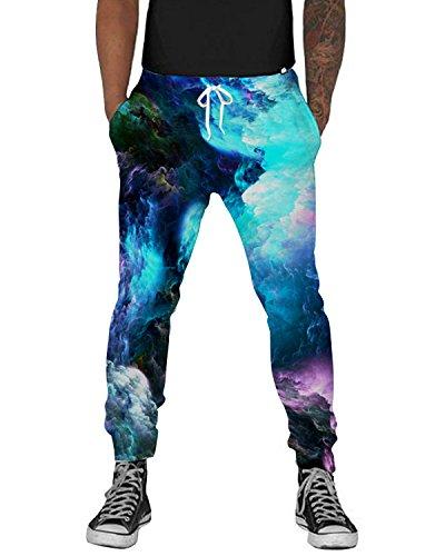 UNIFACO Men Women 3D Printed Galaxy Sweatpants Cool Graphric Sports Jogging Pants L