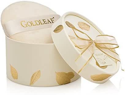 Thymes - Goldleaf Dusting Powder with Puff - Light Jasmine and Rose Scented Body Powder for Women - 3 oz
