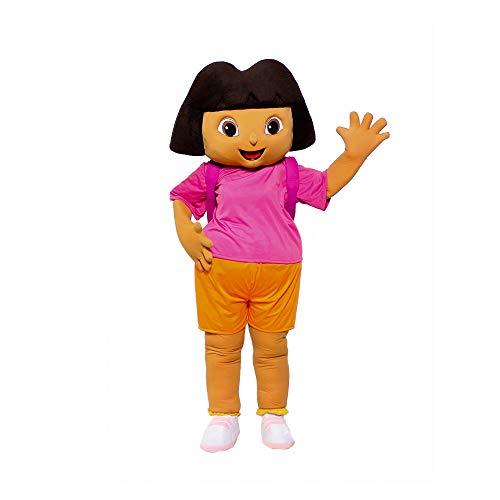Girl Explorer Dora Mascot Costume Character Party Birthday