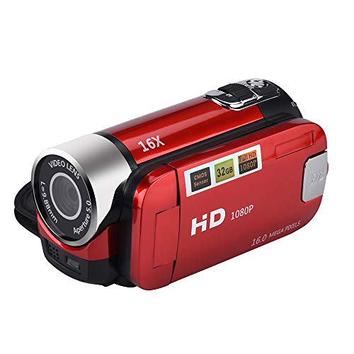 RTYou Music Player HD 1080P Camcorder Digital Video Camera 2.7 Inch TFT LCD Screen 16x Zoom 270 Degrees Rotation for Sport /YouTube/Short Films Video Recording Black 【Ship from USA 】]()