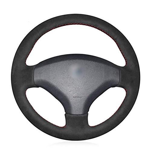 XHCP Peugeot 408 Peugeot 308 Black leather car wheel steering wheel covers:
