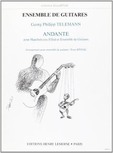 Music Book Andante Guitar - Andante : pour hautbois (ou flute) et ensemble de guitares