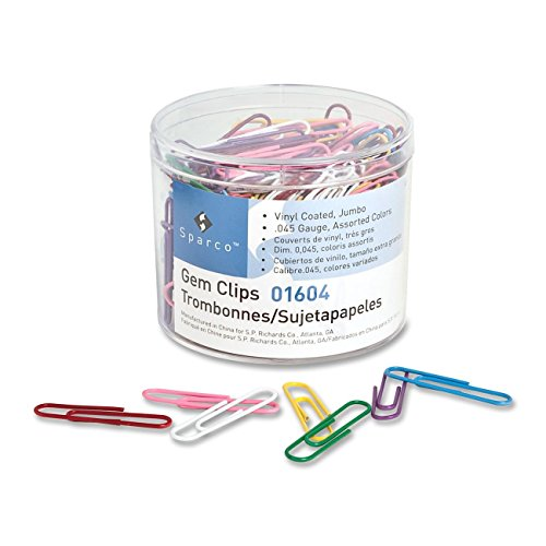 S.P. Richards Company Paper Clips, Vinyl Coated, Jumbo, No. 2, 200 per (2 Vinyl Paper Clip)