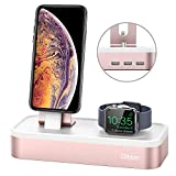 Charging Stand for Apple Watch Series 4, Oittm [5 in 1 New Version] 5-port USB Rechargeable Stand for iWatch Series 4/3/2/1, iPhone Xs, Xs Max, Xr, X, 8, 8 Plus, 7,6,iPad Mini,Apple Pencil (Rose Gold)