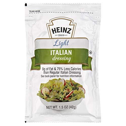 Heinz Light Italian Dressing Single Serve (1.5 oz Packets, Pack of 60)